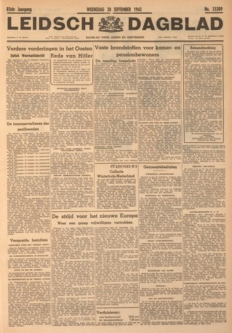 Leidsch Dagblad 1942-09-30