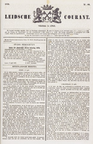 Leydse Courant 1876-04-14