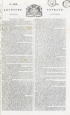 Leydse Courant 1839-12-09