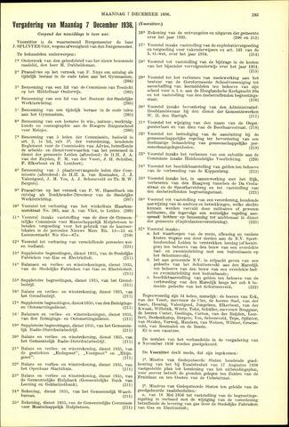 Handelingen van de Raad 1936-12-07