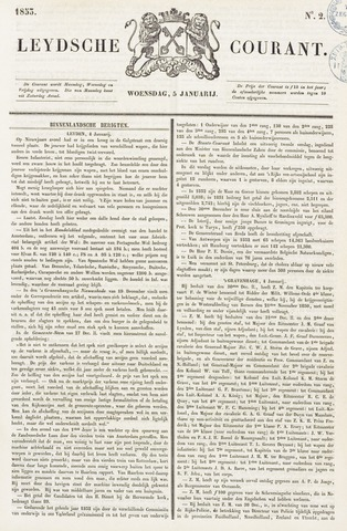 Leydse Courant 1853-01-05