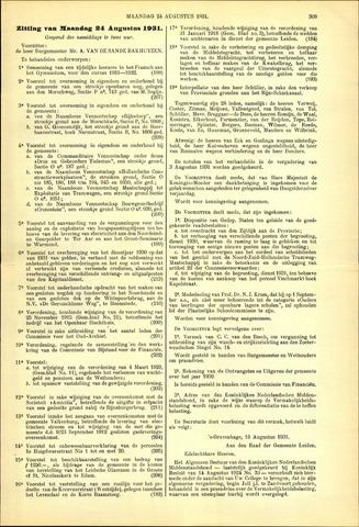 Handelingen van de Raad 1931-08-24