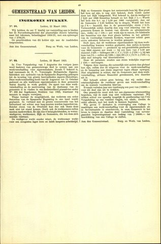 Handelingen van de Raad 1923-03-22