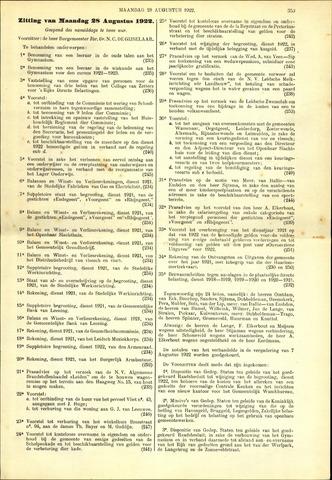 Handelingen van de Raad 1922-08-28