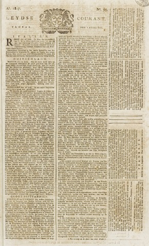 Leydse Courant 1817-08-08
