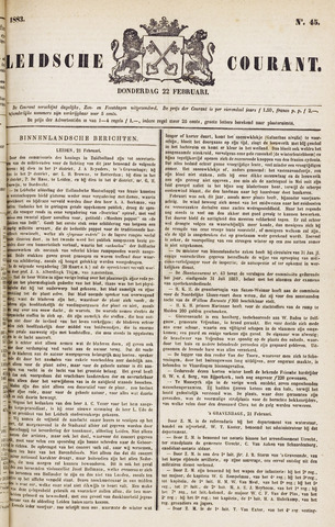 Leydse Courant 1883-02-22