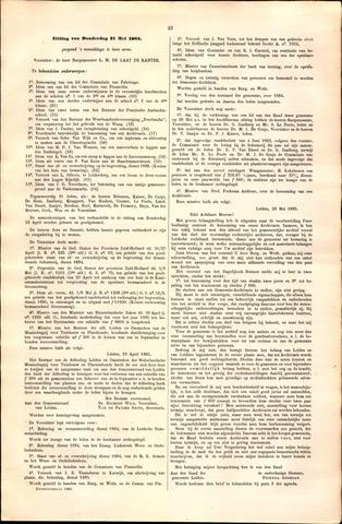 Handelingen van de Raad 1885-05-21