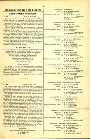 Handelingen van de Raad 1929-05-27