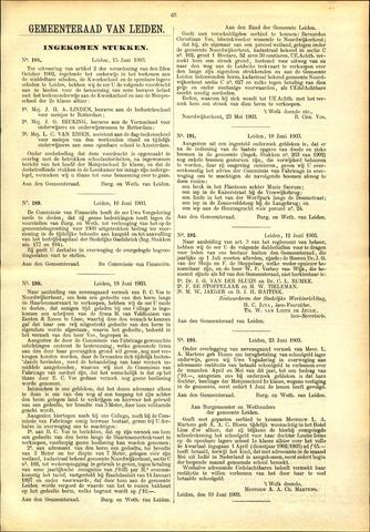 Handelingen van de Raad 1903-06-15