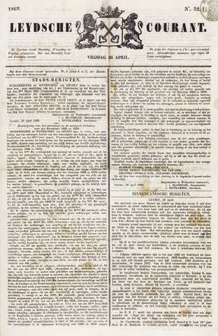 Leydse Courant 1869-04-30
