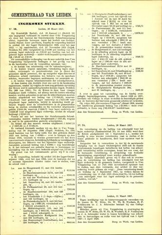 Handelingen van de Raad 1927-03-26