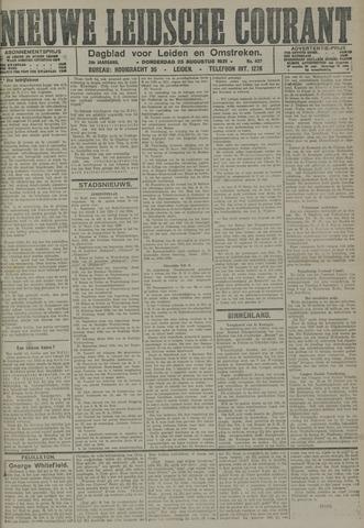 Nieuwe Leidsche Courant 1921-08-25