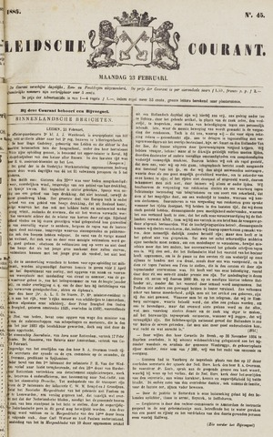 Leydse Courant 1885-02-23