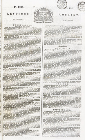Leydse Courant 1839-10-09