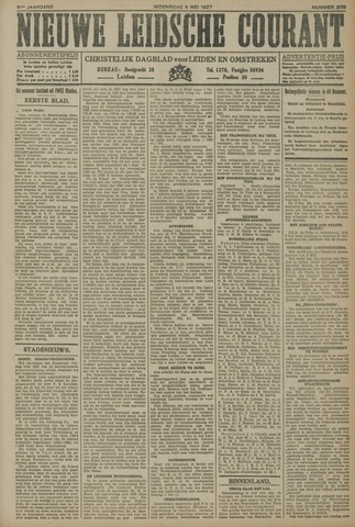 Nieuwe Leidsche Courant 1927-05-04