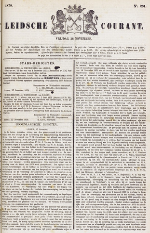 Leydse Courant 1879-11-28