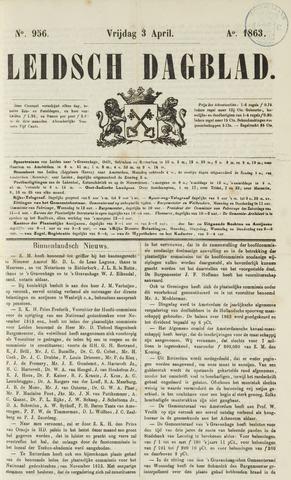 Leidsch Dagblad 1863-04-03