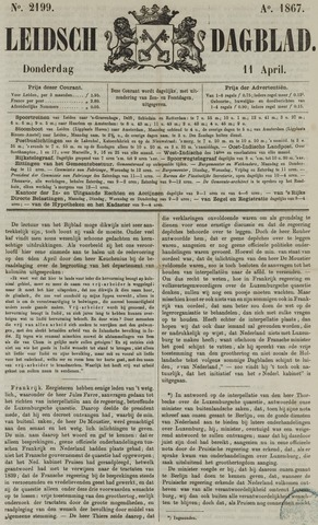 Leidsch Dagblad 1867-04-11