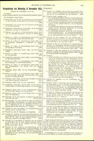Handelingen van de Raad 1934-11-12