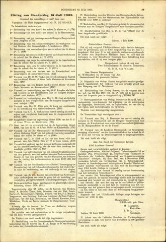 Handelingen van de Raad 1909-07-15