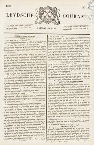 Leydse Courant 1852-03-29