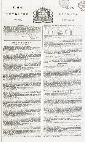 Leydse Courant 1839-02-08