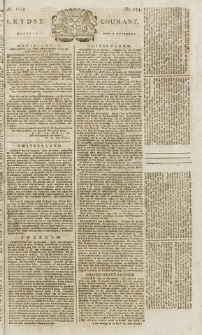 Leydse Courant 1819-11-08
