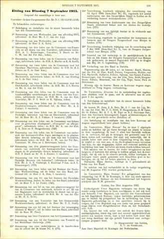 Handelingen van de Raad 1915-09-07