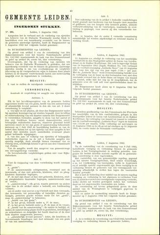 Handelingen van de Raad 1942-08-05