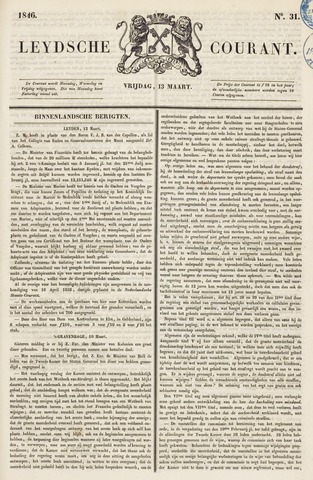 Leydse Courant 1846-03-13