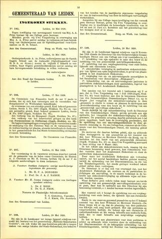 Handelingen van de Raad 1926-05-14