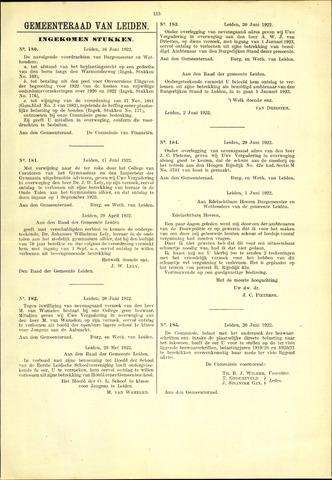 Handelingen van de Raad 1922-06-16