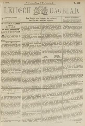 Leidsch Dagblad 1892-02-03