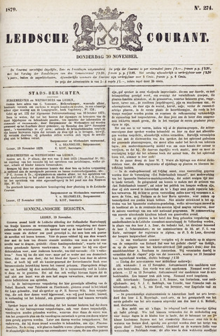 Leydse Courant 1879-11-20
