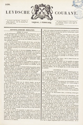Leydse Courant 1850-02-01