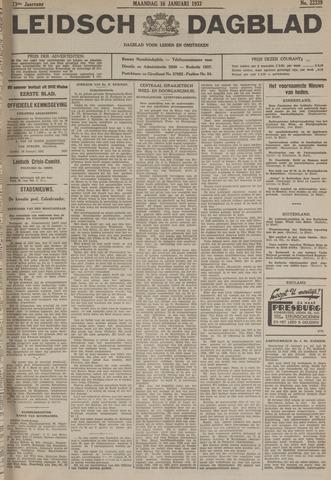 Leidsch Dagblad 1933-01-16