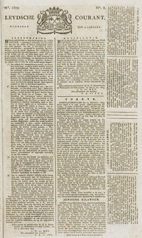 Leydse Courant 1825-01-19