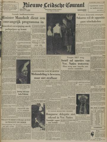Nieuwe Leidsche Courant 1957-02-22