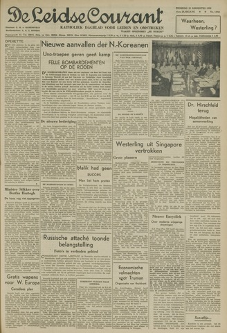 Leidse Courant 1950-08-22