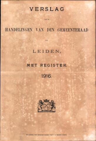 Handelingen van de Raad 1916-01-01