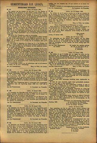 Handelingen van de Raad 1894-01-18