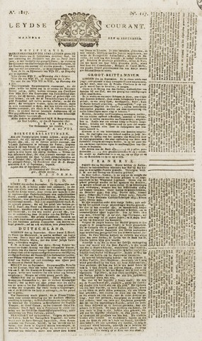 Leydse Courant 1817-09-29