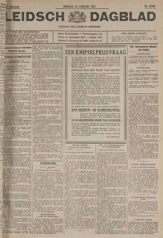 Leidsch Dagblad 1933-01-24