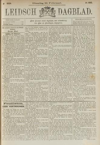 Leidsch Dagblad 1893-02-21