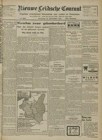 Nieuwe Leidsche Courant 1939-09-25