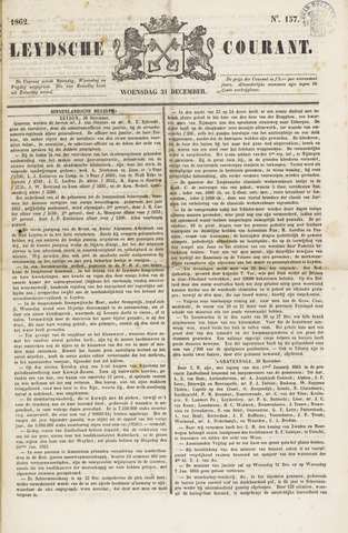 Leydse Courant 1862-12-31