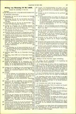 Handelingen van de Raad 1930-05-19