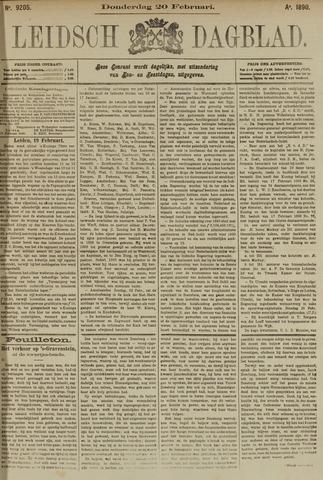 Leidsch Dagblad 1890-02-20