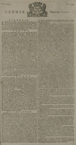 Leydse Courant 1734-10-25