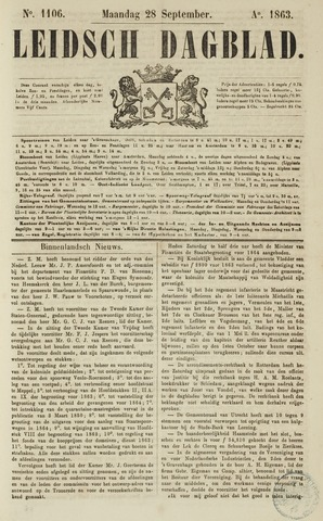 Leidsch Dagblad 1863-09-28